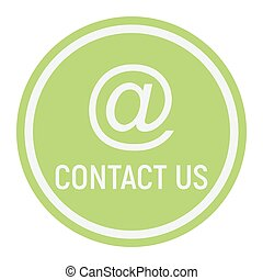 Email address flat icon, contact us and website button,...