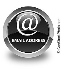 Email address glossy black round button