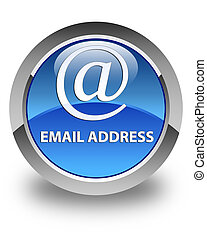 Email address glossy blue round button
