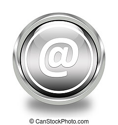 email address glossy icon
