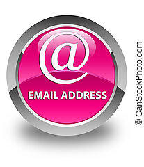 Email address glossy pink round button