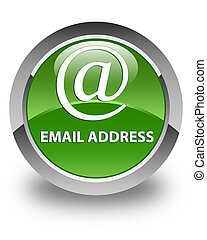 Email address glossy soft green round button