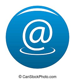 Email address icon blue