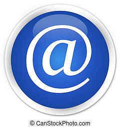 Email address icon blue glossy round button