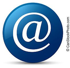 Email address icon blue round button