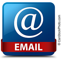 Email (address icon) blue square button red ribbon in middle