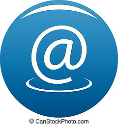 Email address icon blue vector