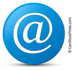 Email address icon cyan blue round button