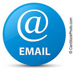 Email (address icon) cyan blue round button