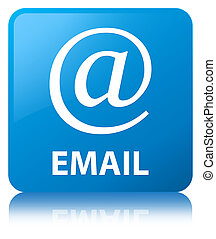 Email (address icon) cyan blue square button