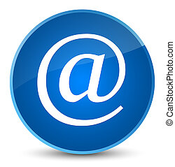 Email address icon elegant blue round button