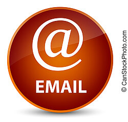 Email (address icon) elegant brown round button