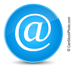Email address icon elegant cyan blue round button