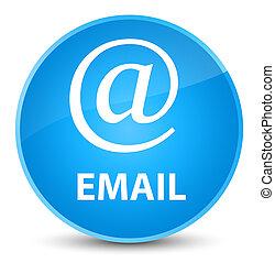 Email (address icon) elegant cyan blue round button