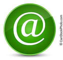 Email address icon elegant green round button