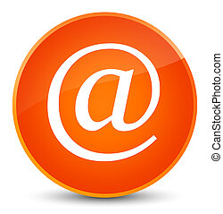 Email address icon elegant orange round button