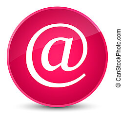 Email address icon elegant pink round button