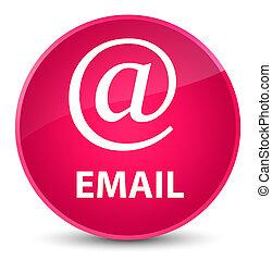 Email (address icon) elegant pink round button