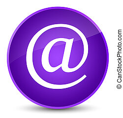 Email address icon elegant purple round button