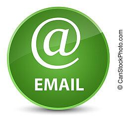 Email (address icon) elegant soft green round button