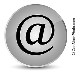 Email address icon elegant white round button