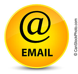Email (address icon) elegant yellow round button