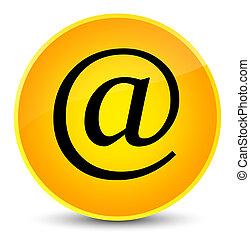 Email address icon elegant yellow round button
