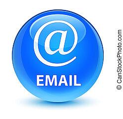 Email (address icon) glassy cyan blue round button