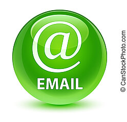Email (address icon) glassy green round button