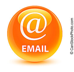 Email (address icon) glassy orange round button