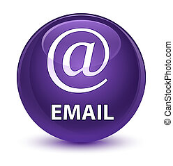 Email (address icon) glassy purple round button