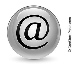 Email address icon glassy white round button
