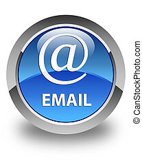 Email (address icon) glossy blue round button