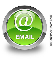 Email (address icon) glossy green round button