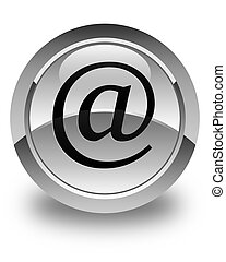 Email address icon glossy white round button