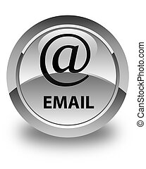 Email (address icon) glossy white round button