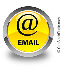 Email (address icon) glossy yellow round button