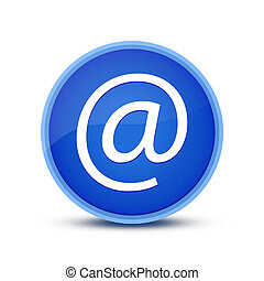 Email (address icon) isolated on glassy blue round button abstract
