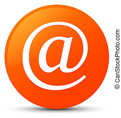 Email address icon orange round button