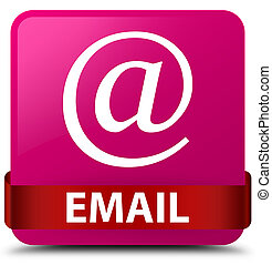 Email (address icon) pink square button red ribbon in middle