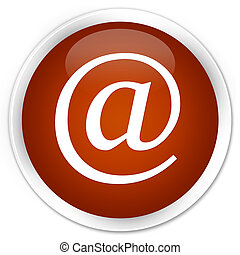 Email address icon premium brown round button