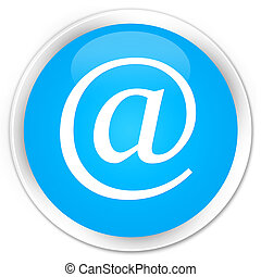 Email address icon premium cyan blue round button