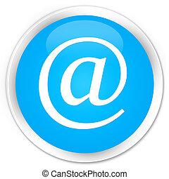 Email address icon premium cyan blue round button