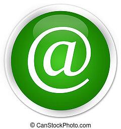 Email address icon premium green round button