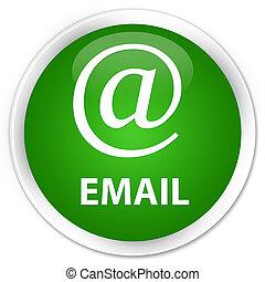 Email (address icon) premium green round button