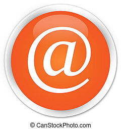 Email address icon premium orange round button