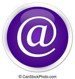 Email address icon premium purple round button