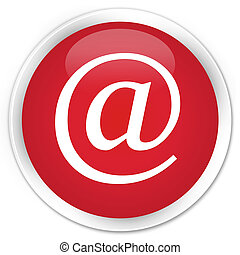 Email address icon premium red round button