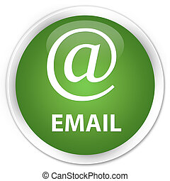 Email (address icon) premium soft green round button