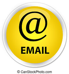 Email (address icon) premium yellow round button